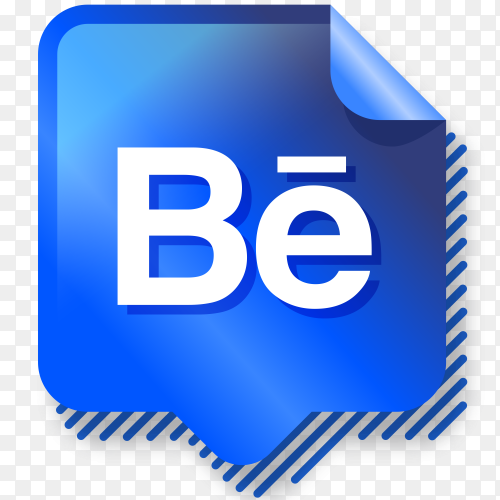 Logo Behance gradient social media PNG