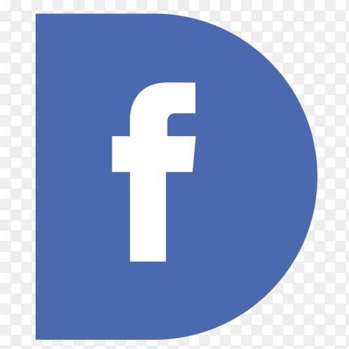 Logo Facebook sidebar PNG