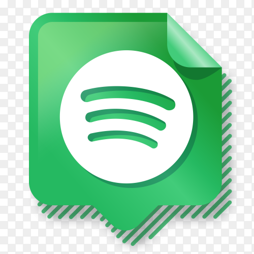 Logo Spotify gradient social media PNG