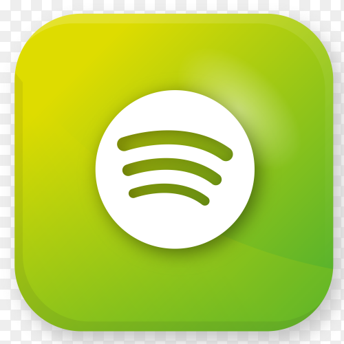 Logo Spotify realistic icon transparent PNG