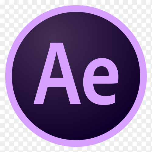 Logo adobe after effects cc circle vector PNG
