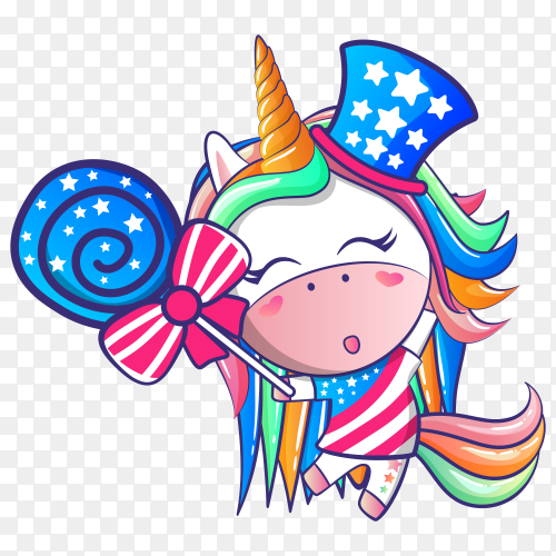 Make unicorn colorful again Vector PNG