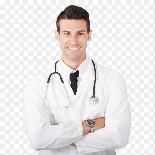 Male young doctor transparent PNG