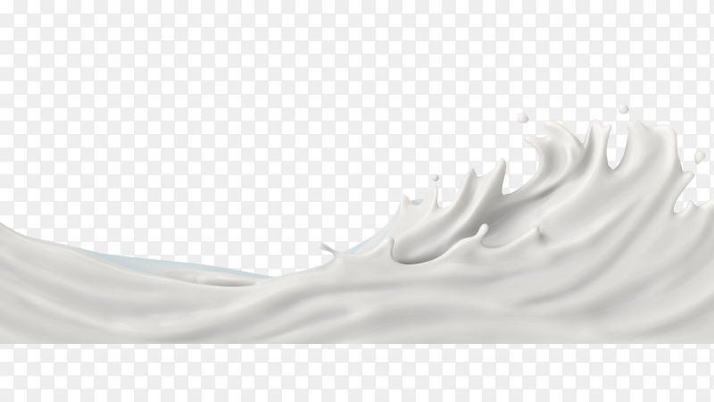Milk or yogurt splash, 3d illustration PNG