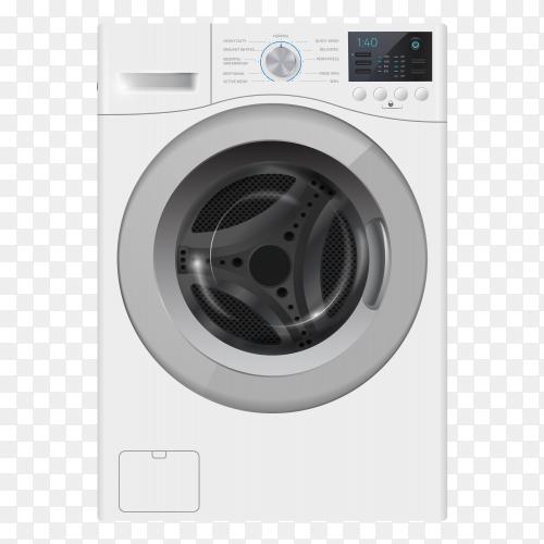 Modern washing machine transparent background PNG