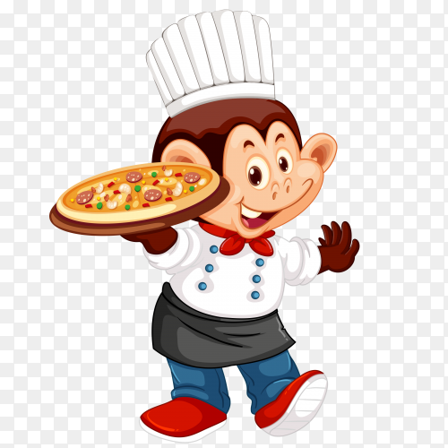 Monkey chef Vector PNG