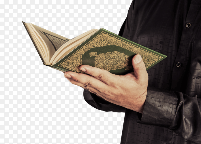 Muslim reads the Holy Quran PNG
