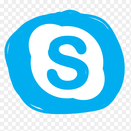 New Skype icon vector PNG