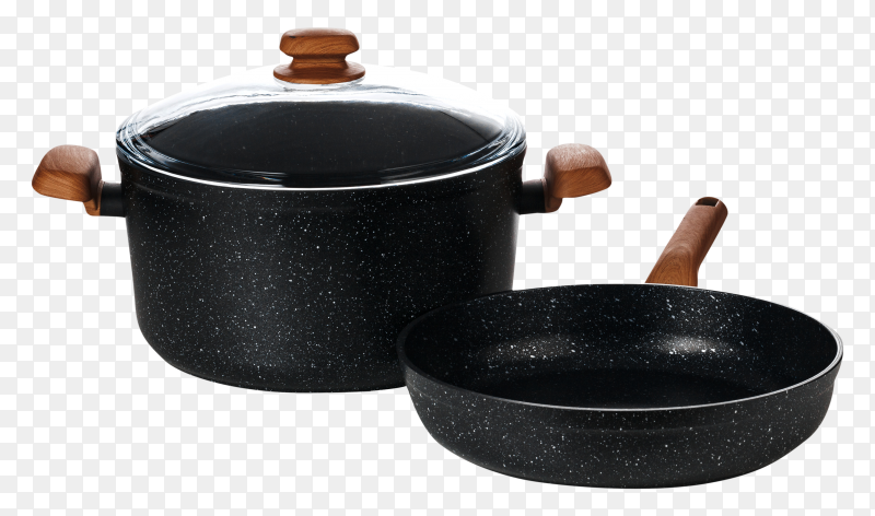 New black saucepan kitchen utensils PNG