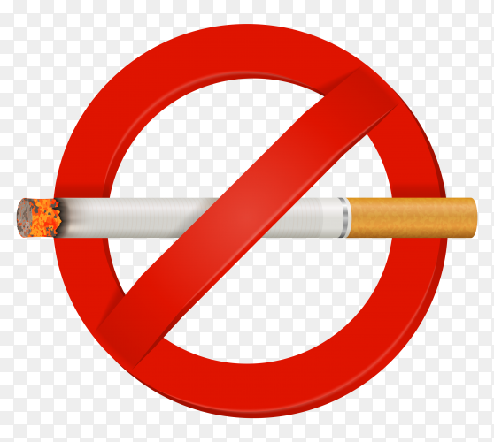 No smoking cigarette sign vector PNG