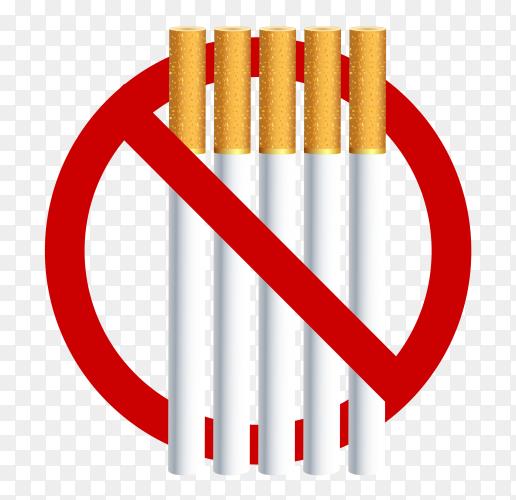 No smoking cigarette vector PNG