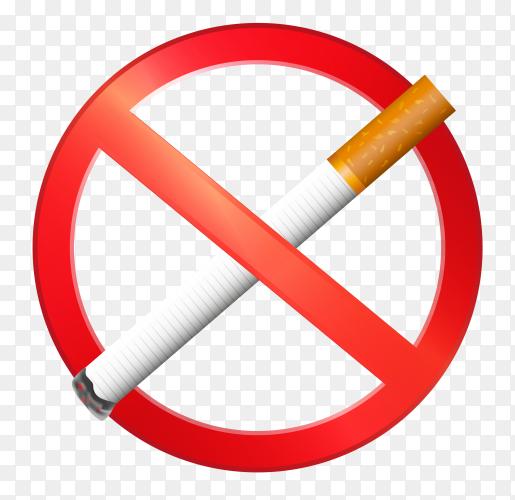 No smoking transparent background PNG