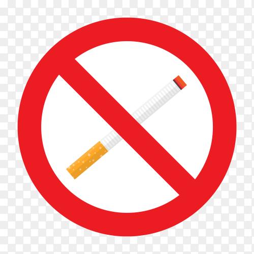 No smoking vector PNG