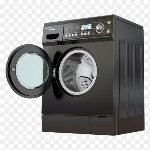 Open washing machine PNG