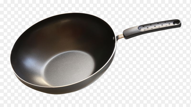 Pan or metal frying pan transparent PNG