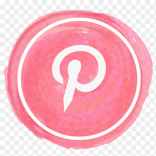 Pinterest icon watercolor PNG