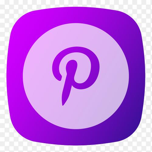 Pinterest logo purple PNG