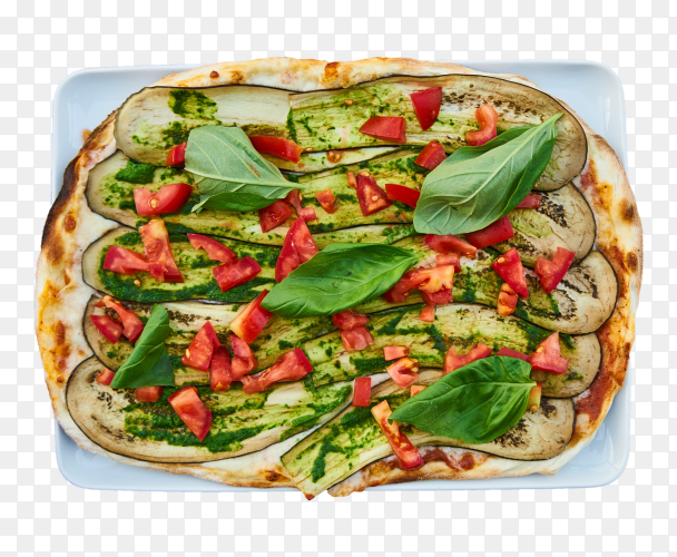 Pizza with eggplant PNG