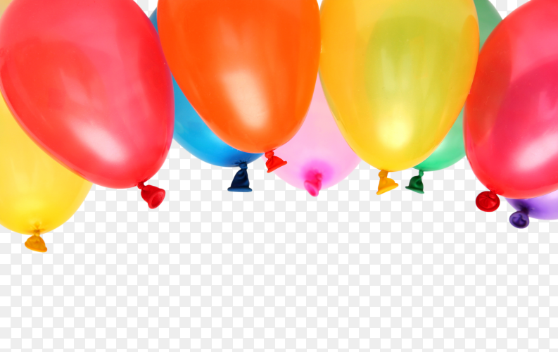 Plenty Colorful Balloons PNG