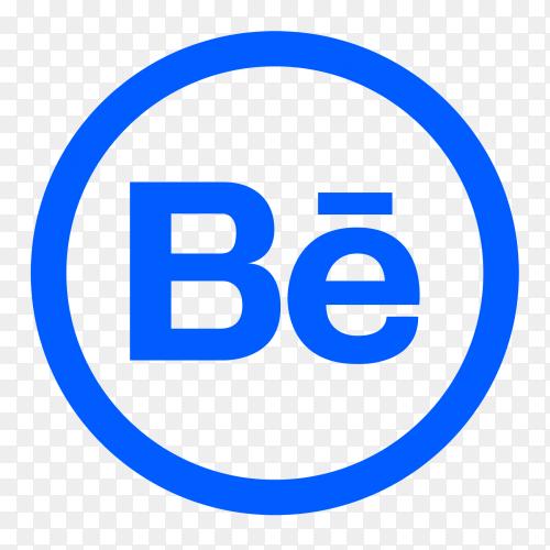 Popular social media Behance logo transparent PNG