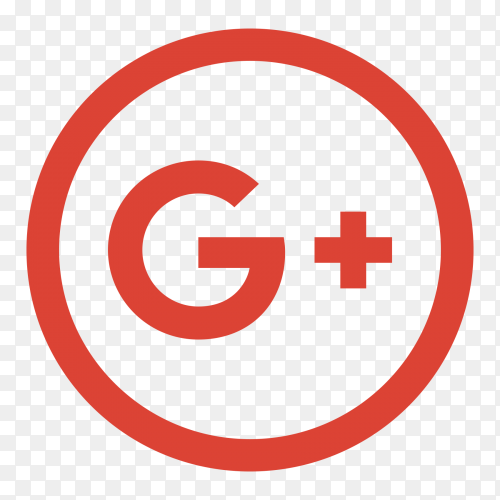 Popular social media GooglePlus logo transparent PNG