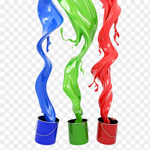 RGB Paint colors PNG