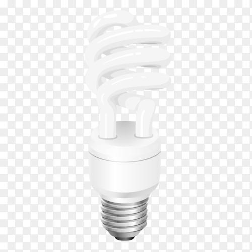 Realistic light bulb vector PNG