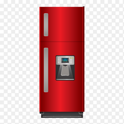 Red refrigerator – fridge vector PNG
