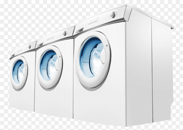 Rows of washing machines PNG