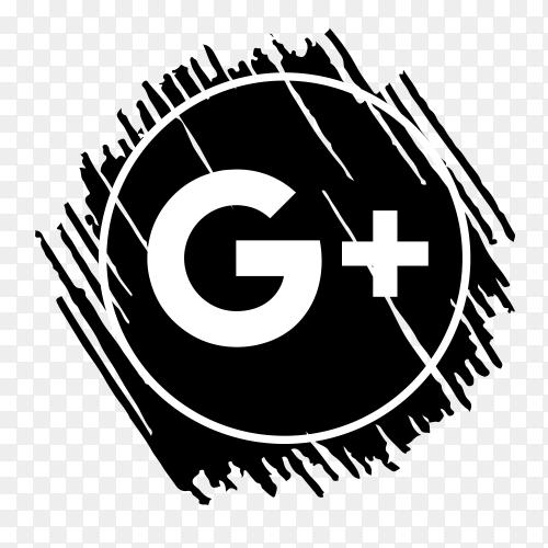 Scribble GooglePlus logo black PNG