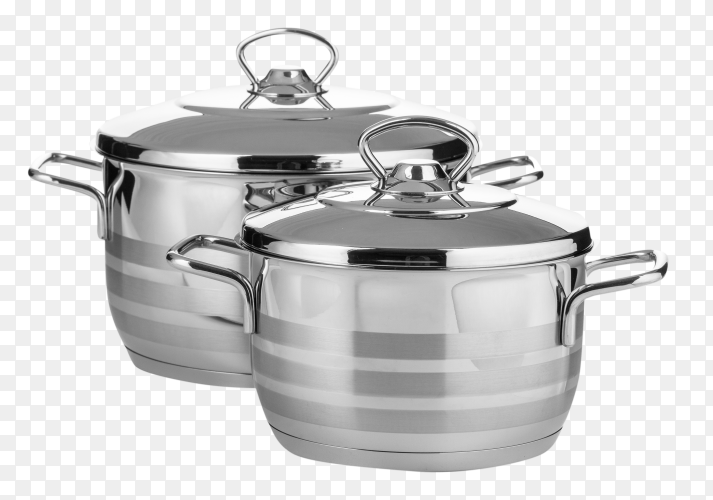 Set stainless steel dishware – kitchen utensils PNG