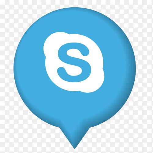 Skype icon illustrator form poi PNG