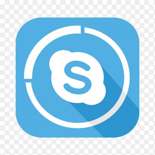Skype logo popular social media icon PNG