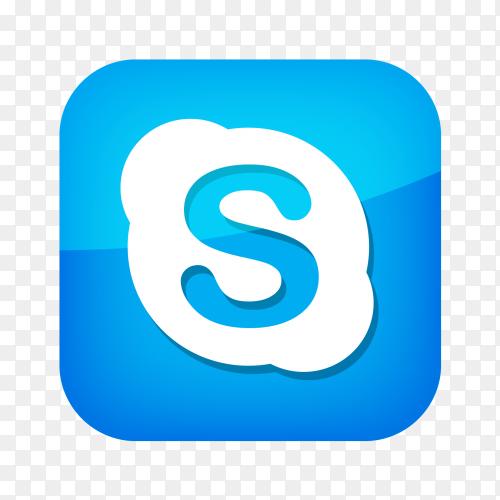 Skype logo social network PNG