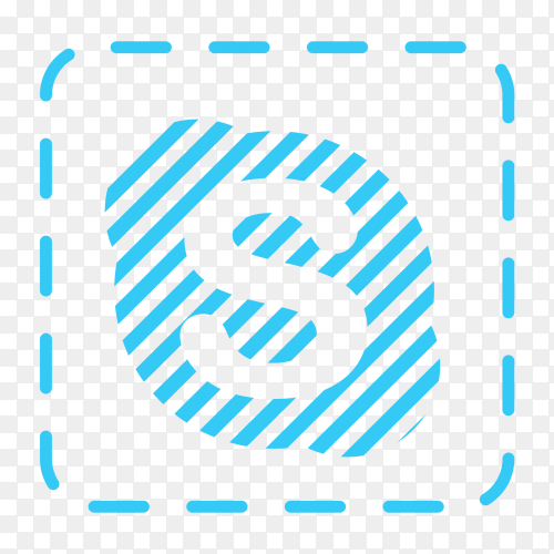 Skype logo social network texture PNG