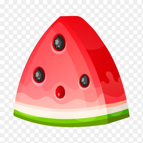 Slice watermelon. healthy food Premium Vector Free download PNG