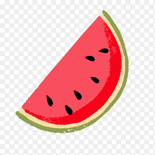 Slice watermelon clipart Vector PNG