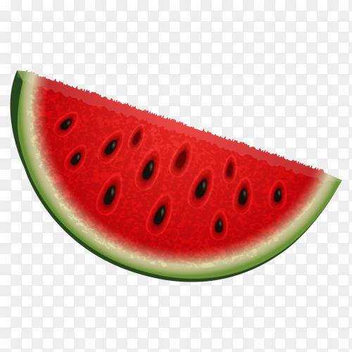 Slice watermelon illustration Vector PNG