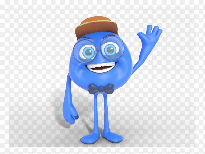 Smiling 3D character mascot illustration PNG
