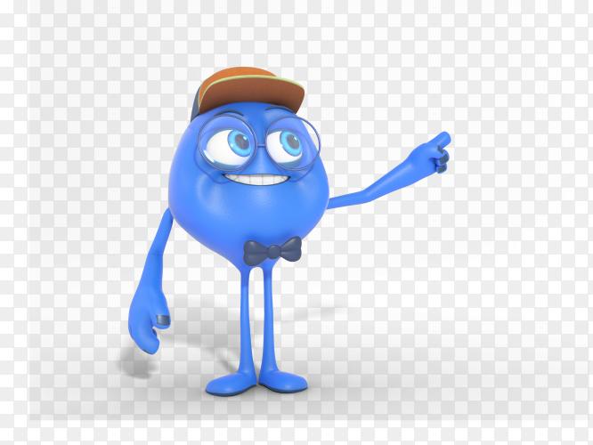 Smiling 3D character mascot illustration transparent PNG