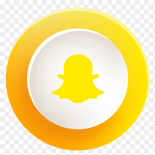 Snapchat button new design PNG