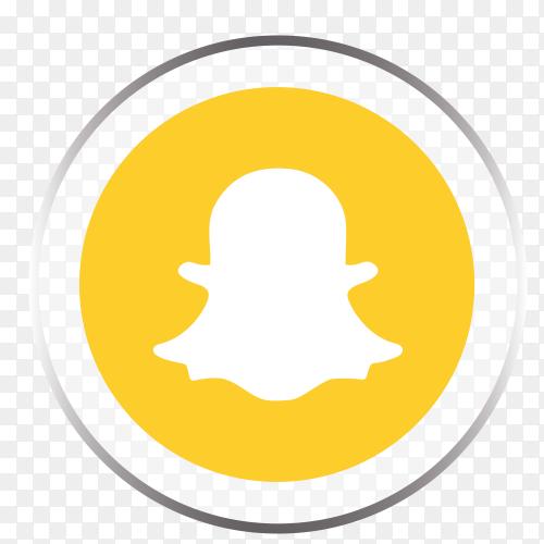 Snapchat logo social media platform PNG