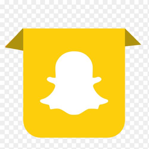 Snapchat logo drop down PNG