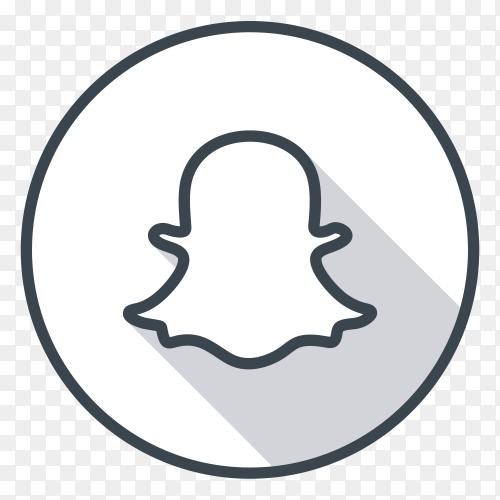 Snapchat logo gray color PNG