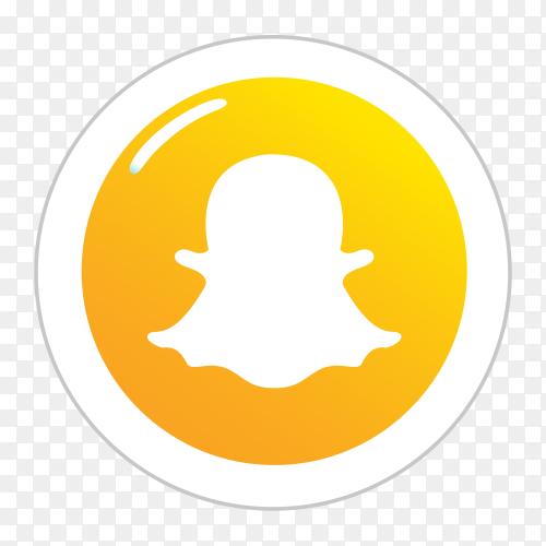 Snapchat logo in a circle social media icon PNG