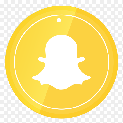 Snapchat logo in a circle PNG