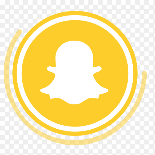 Snapchat logo in circles PNG
