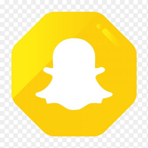 Snapchat logo in gradient hexagonal PNG