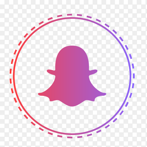 Snapchat logo in points circle PNG