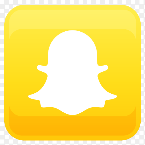 Snapchat logo in square shape PNG
